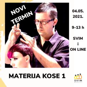 MATERIJA KOSE 1 - teorija kose by Vladimir Vukobrat  - NOVI DATUM 4.5.